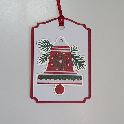 Shimmering Holiday Bell Gift Tag