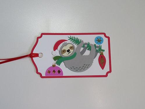 Sloth Christmas Gift Tag