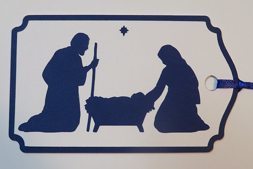 Holy Family Silhouette Gift Tag