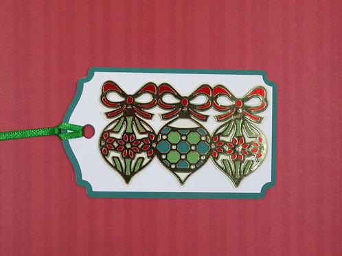 Three Ornaments Gift Tag