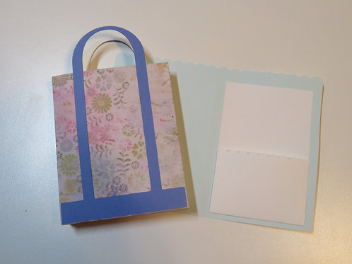 Colorful Gift Card Holder Shopping Bag Blue
