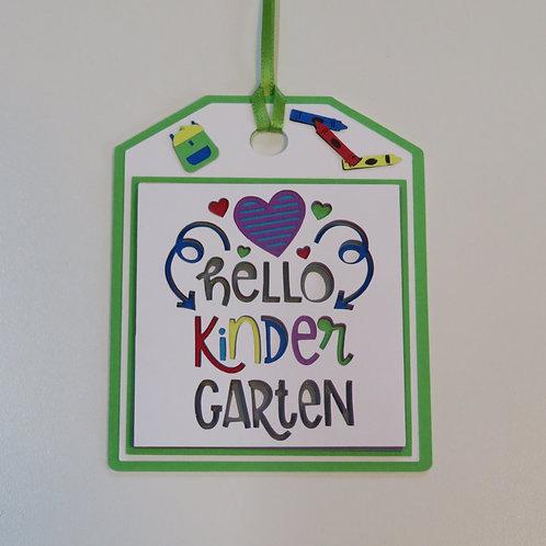 Hello Kindergarten Gift Tag