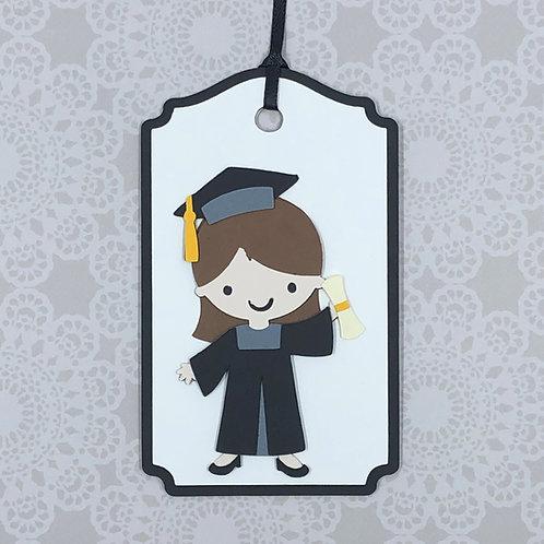Graduation Girl Gift Tag