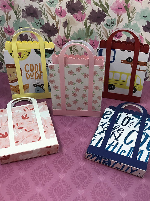 Colorful Gift Card Holder Shopping Bag