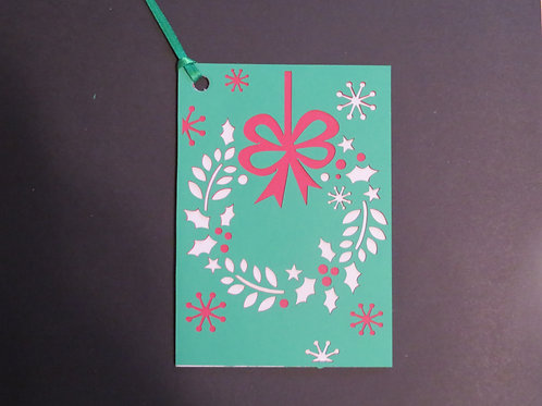 Hanging Wreath Gift Tag