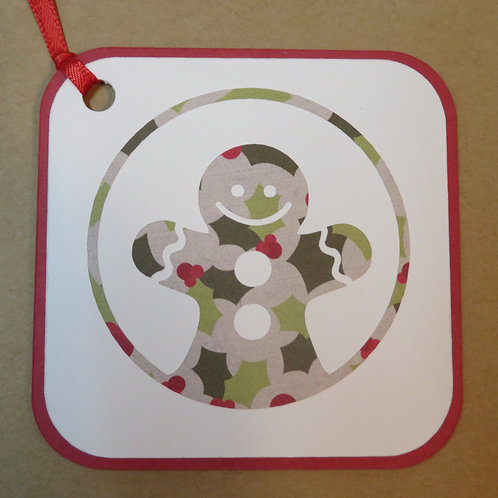 Gingerbread Man Gift Tag