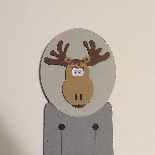 Googly Eyes Moose Bookmark