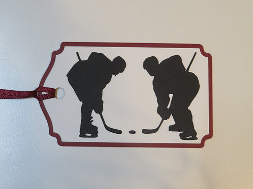 Hockey Face-Off Gift Tag