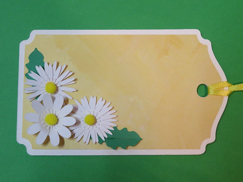 Trio of Daisies in Corner Gift Tag