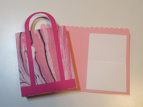 Colorful Gift Card Holder Shopping Bag Pink