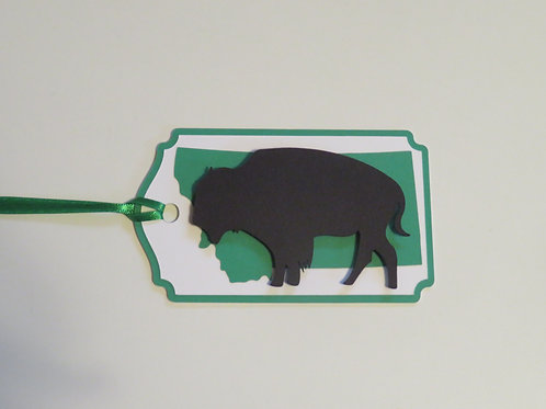 Bison or Buffalo on State of Montana Gift Tag