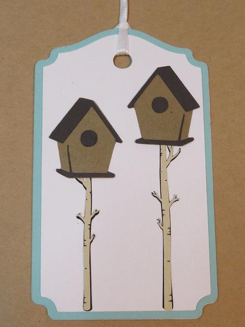 Pair of Birdhouses on Birch