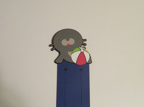 Playful Seal with Beach Ball Bookmark
