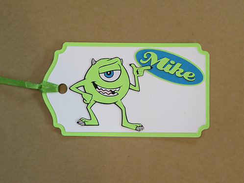 Mike Wazowski From Disney's Monsters, Inc Gift Tag