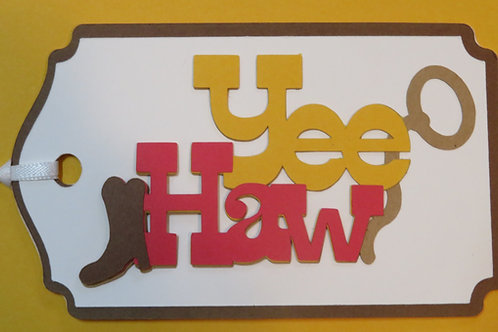 Yee Haw Gift Tag