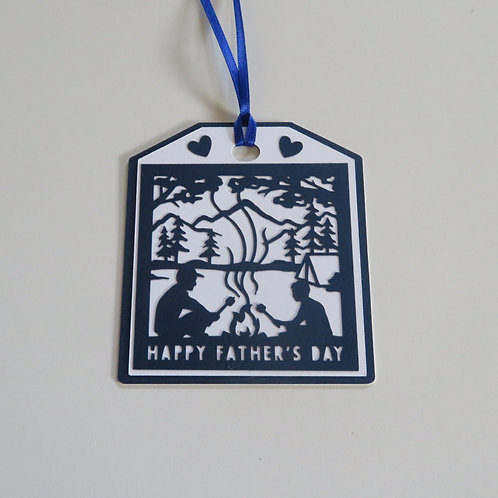 Happy Father's Day Camping Gift Tag