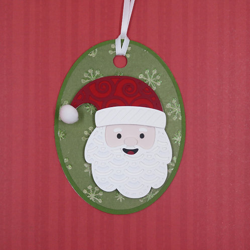 Jolly Ol' Saint Nick Mandala Santa Claus Gift Tag