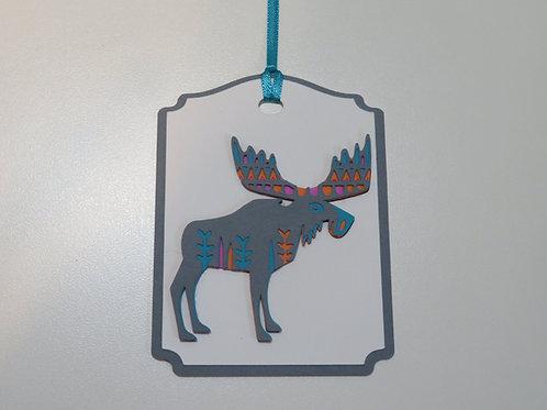 Scandinavian Inspired Moose Gift Tag