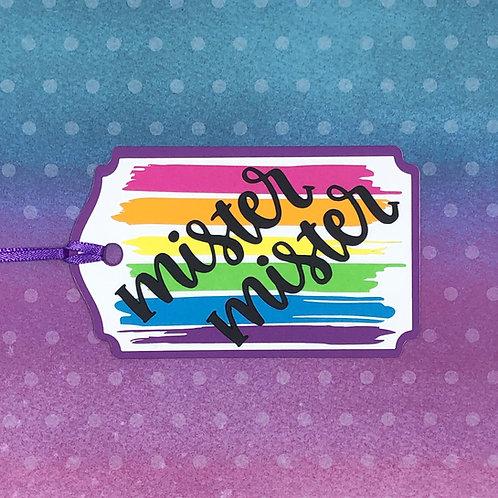 Rainbow Pride Mister Mister Gift Tag