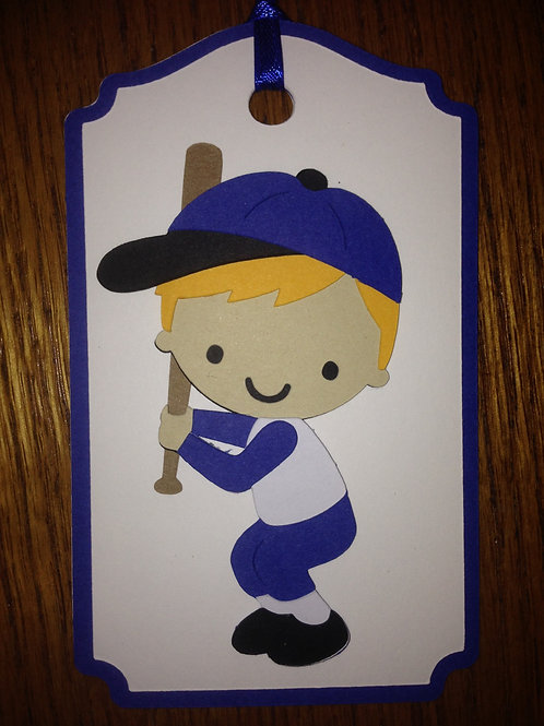 Little Slugger Baseball Batter Gift Tag