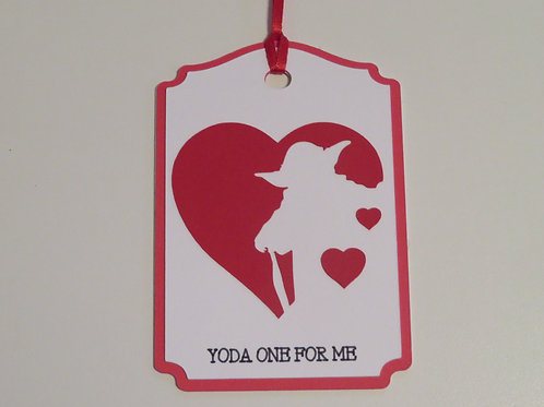 Yoda One For Me Gift Tag
