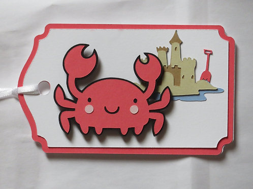 Ocean Crab on the Beach Gift Tag