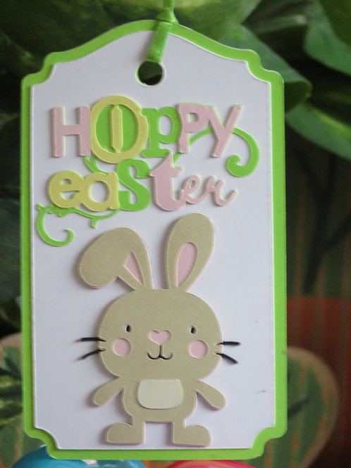 Hoppy Easter Bunny Basket or GiftTag