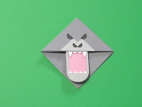 Angry Gorilla Corner Bookmark