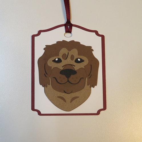 Newfoundland Face Gift Tag