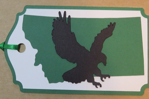 Eagle Silhouette on State of Montana Gift Tag