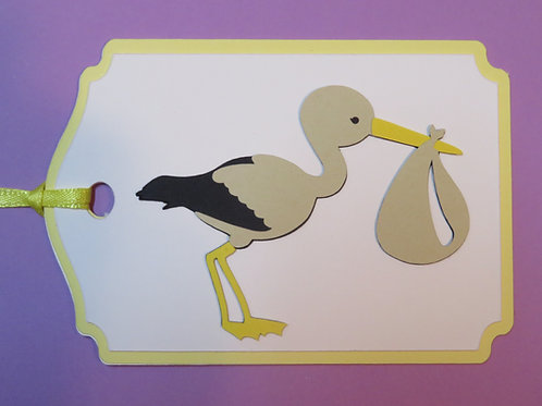Special Delivery Stork Gift Tag