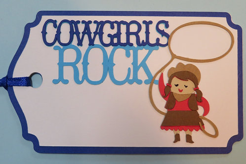 Cowgirls Rock Gift Tag