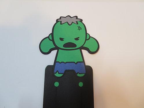 Handmade Layered Hulk Bookmark