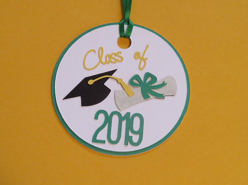 Class of 2019 Graduation Cap, Tassel, and Diploma Gift Tag