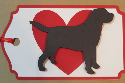 Retriever Silhouette in Front of Large Red Heart