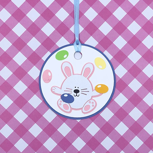 Jelly Bean Juggler Easter Bunny Gift Tag