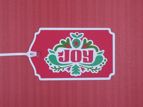 Scandinavian Inspired Joy Christmas Gift Tag