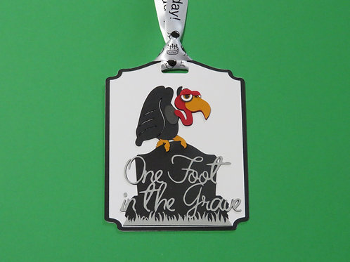 One Foot in the Grave Vulture Happy Birthday Gift Tag
