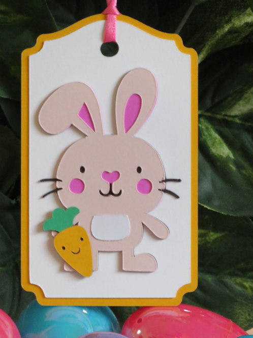 Bunny Rabbit with Carrot Gift Tag