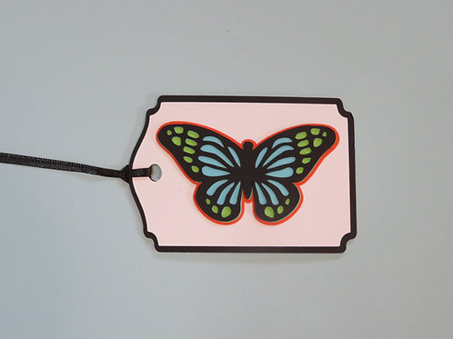 Stained Glass Look Butterfly Gift Tag