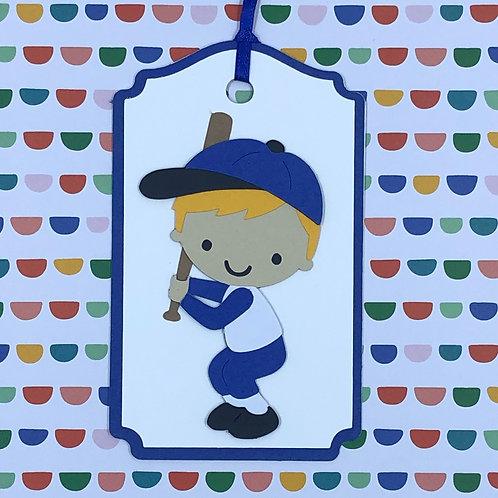 Little Slugger Baseball Batter Gift Tag