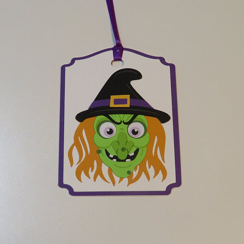 Scary Witch Gift Tag