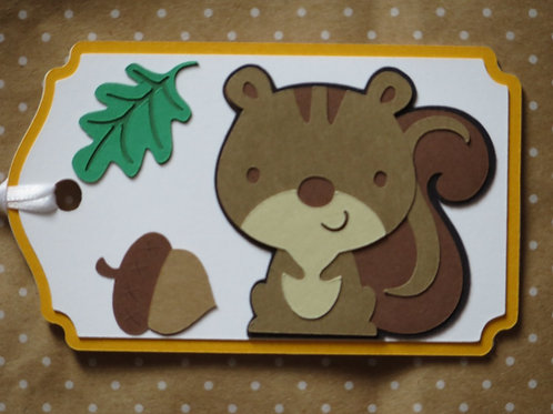 Woodland Forest Animal Squirrel Gift Tag
