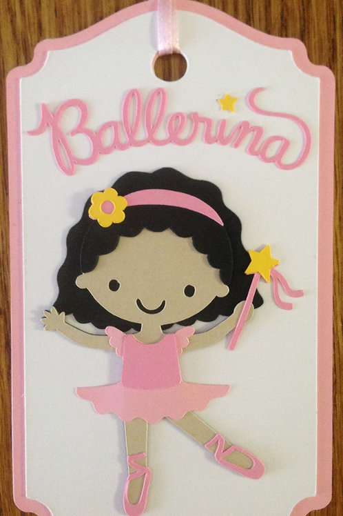 Beautiful Ballerina Gift Tag