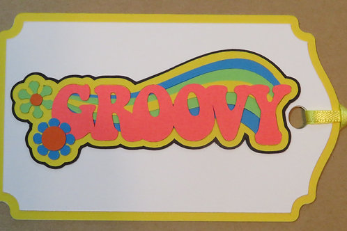 Neon Bright Groovy Gift Tag