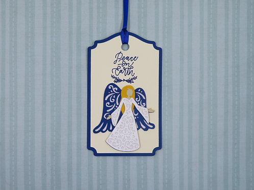 Peace on Earth Filigree Angel Gift Tag
