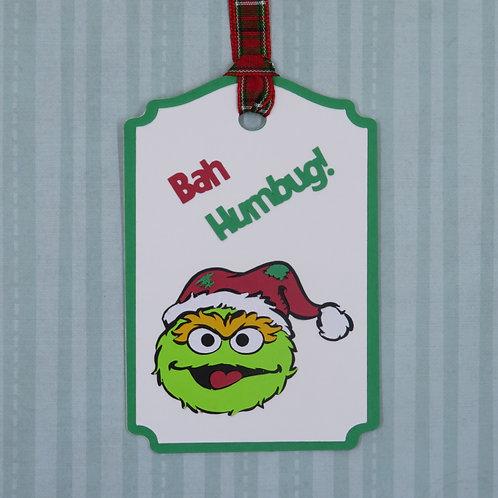 Bah Humbug! Oscar the Grouch Gift Tag