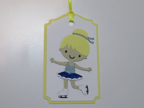 Ice Skater Gift Tag