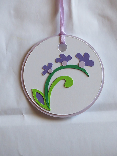 Pentstemon or Beardtongue Flowers Gift Tag