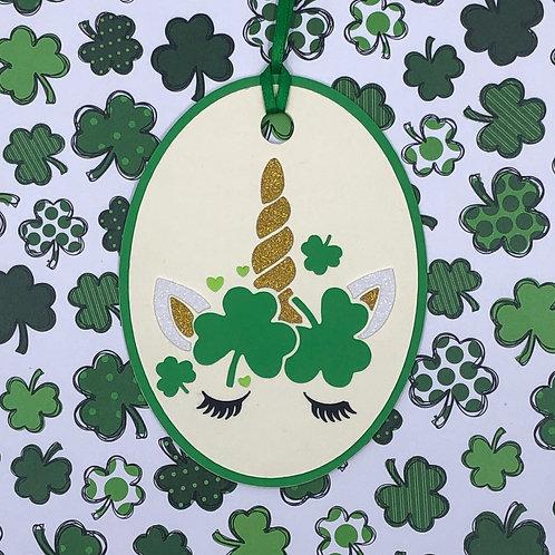 St. Patrick's Day Unicorn Gift Tag